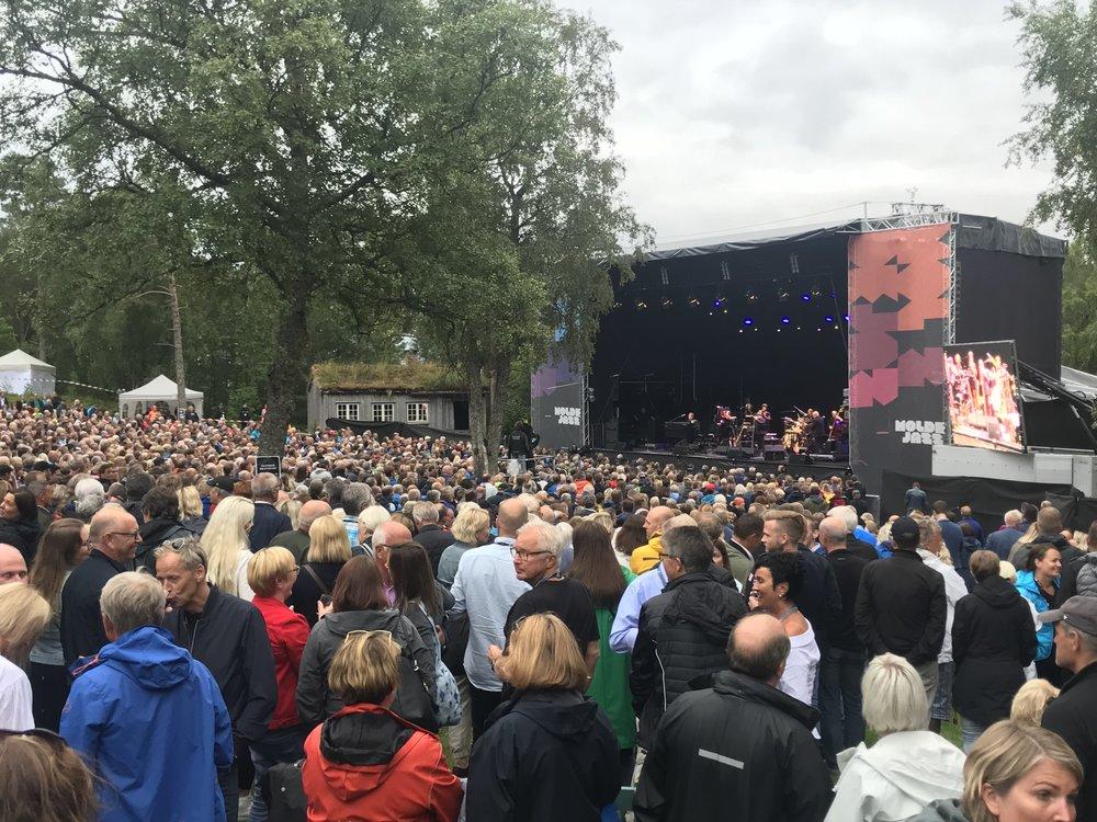 Konserten med Van Morrison ble en publikumssuksess.  Foto: Jakob Lange