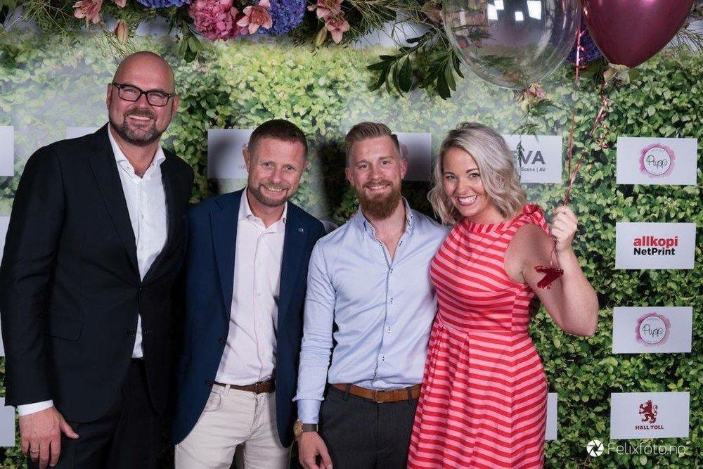 Fra arrangementet i 2017. Dag Terje Solvang, Bent Høie, Ruben Myrseth og Silje Opofte. Foto:Felix Andrè Skulstad