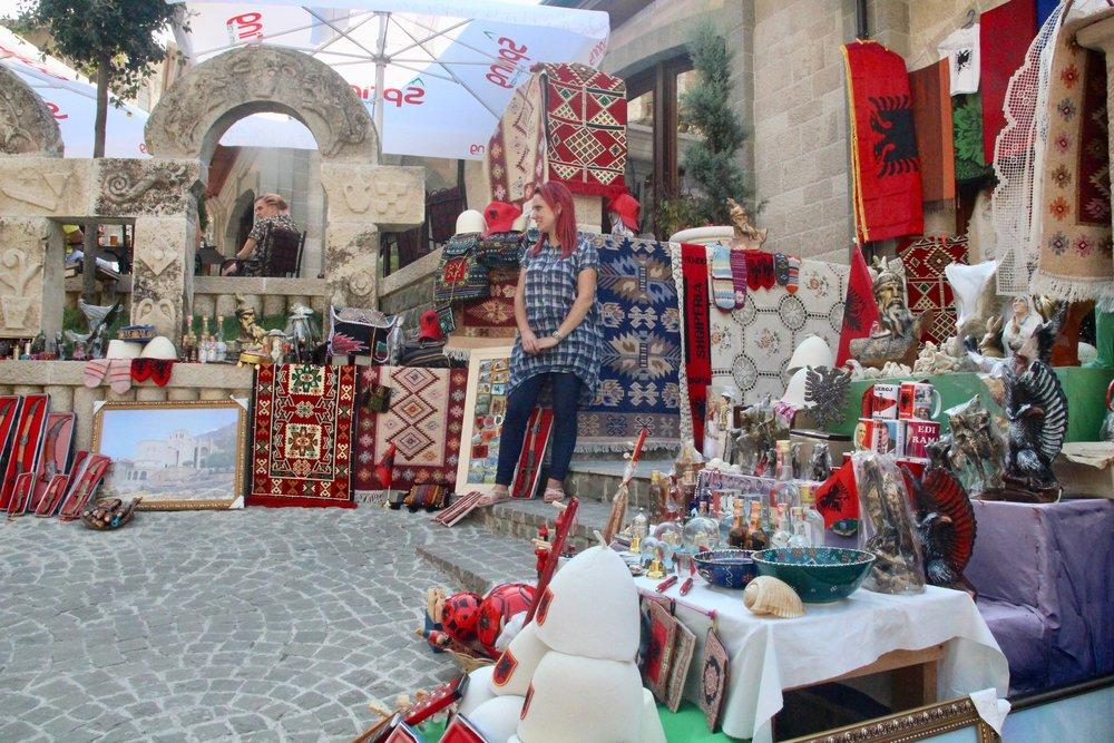 På turistbasaren i Kruje ca 60 minutters kjøring fra Tirana/Durres. Foto: Odd Roar Lange