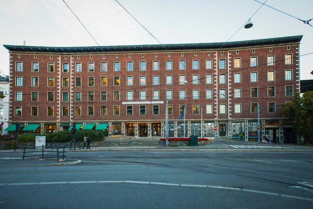 Hotellet Sommerro på Solli plass åpner til våren 2021. Foto: Chris Aadland