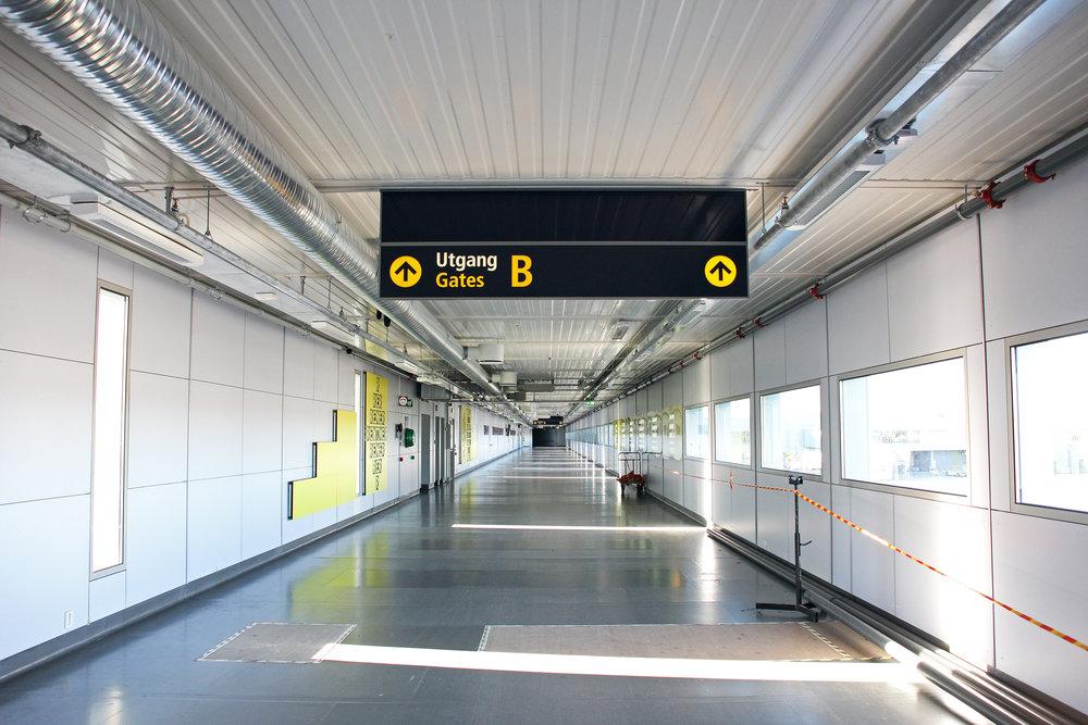 Her kommer nye rullebånd på Oslo Lufthavn Gardermoen.   Foto: Odd Roar Lange