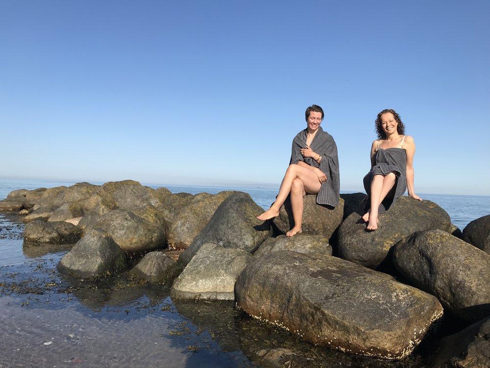 Dra på badeferie på Nord-Sjælland, som her ved Tisvildeleje. Foto: Odd Roar Lange
