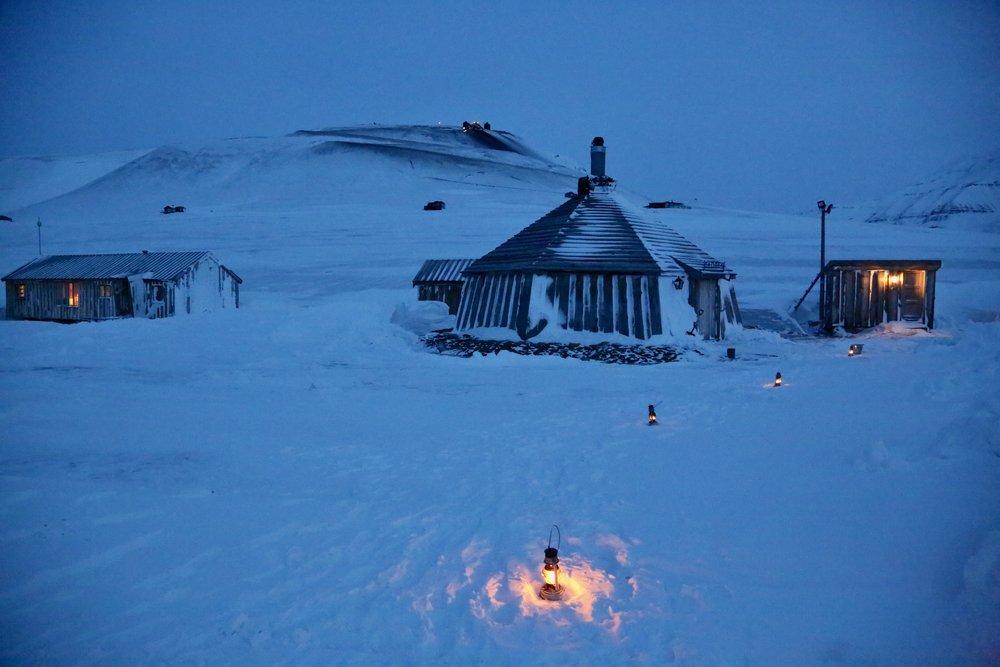 Stemningsfulle Longyearbyen. Foto: Odd Roar Lange