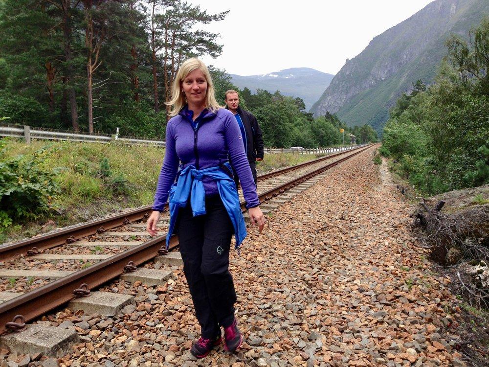 På sporet av lønnsom turisme i Rauma - dersom de utvikler denne jernbanestrekningen. Foto: Odd Roar Lange
