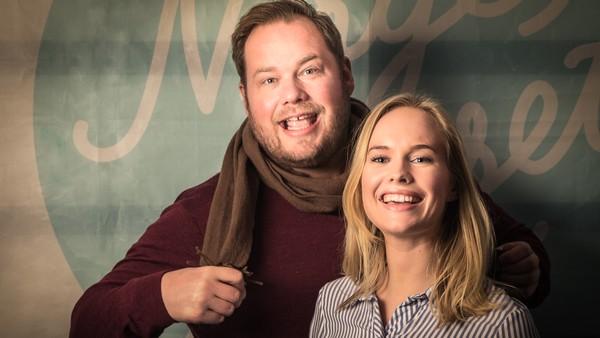 Pål Plassen og Mari Svenning i NRKs «Norgesglasset Søndag». Foto: NRK