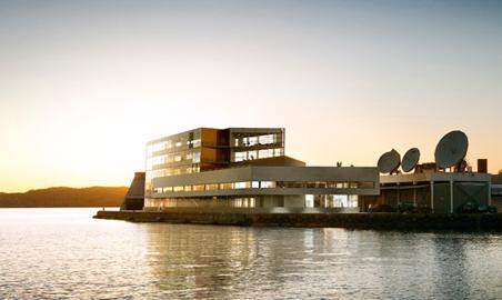 Slik skal det nye huset for reiselivet på Vestlandet bli. Illustrasjon: EGD Property