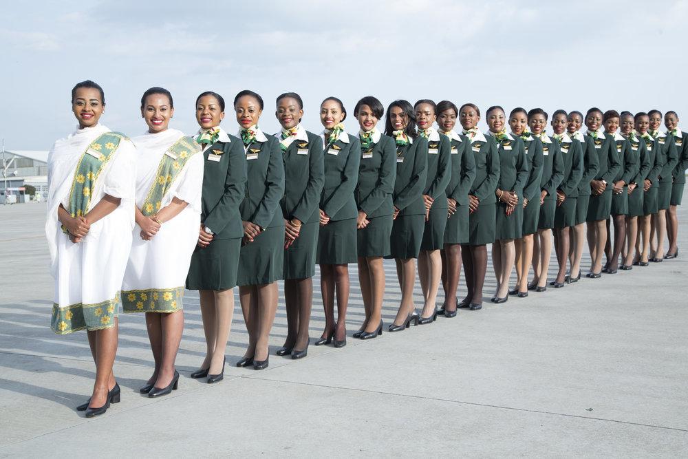 Klare for historisk flyreise.                                                                                  Foto: Ethiopian Airlines