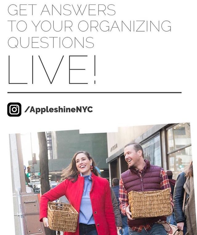 My amazing friend and #organizing genius, Amelia, @appleshinenyc is sharing some tips - check out her stories! 🗂
