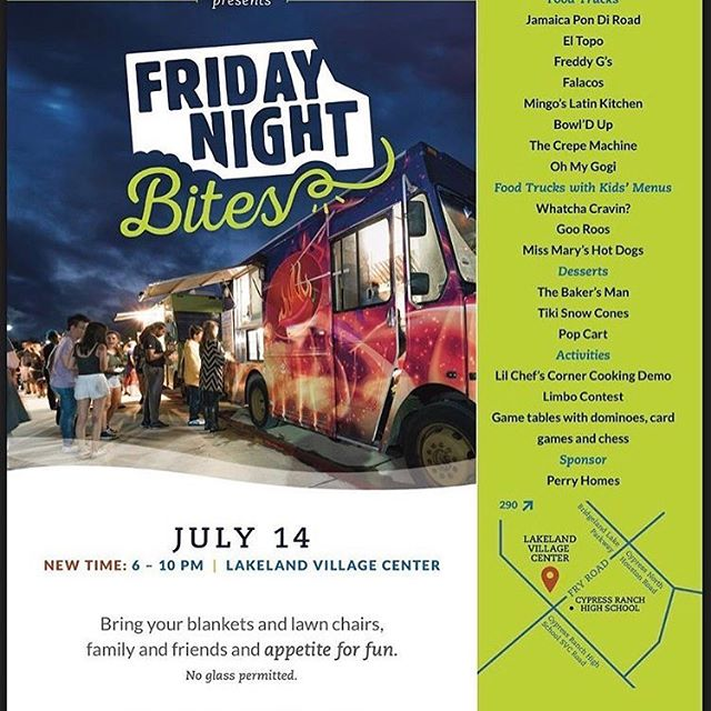 See y'all for #fridaynightbites at Bridgeland! @bowlduptruck @ohmygogi_htx will be there with us slangin mad food!