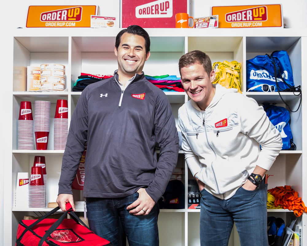 OrderUp, a food delivery startup, co-founders Chris Jeffery and Jason Kwicien for  Baltimore