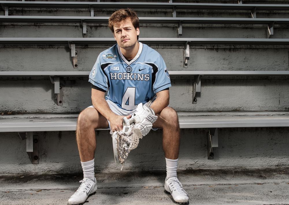Nov 17, 2015; Baltimore, MD, USA; Johns Hopkins Blue Jays attack Ryan Brown poses for portraits on Homewood Field at Johns Hopkins University in Baltimore, MD.Credit:Brian Schneider-www.ebrianschneider.comInstagram - @ebrianschneiderTwitter - @brian_schneiderFacebook - @ebrianschneider