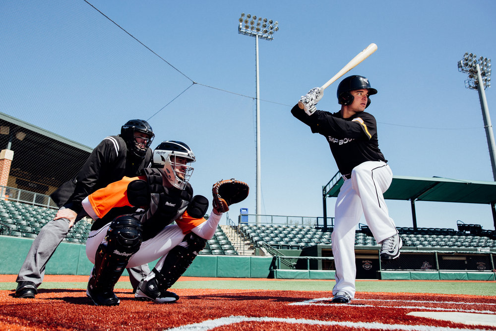 April 5, 2016; Aberdeen, MD, USA; GripBoost baseball and football brand shoot at Cal Ripken Stadium in Aberdeen, MD.
