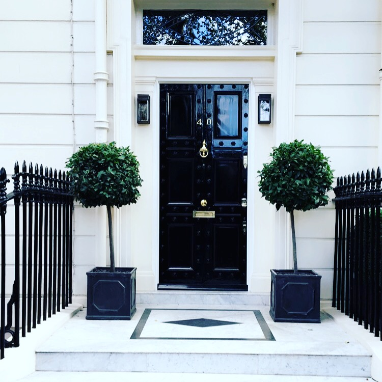 Entrance to a private estate in Kensington, London.