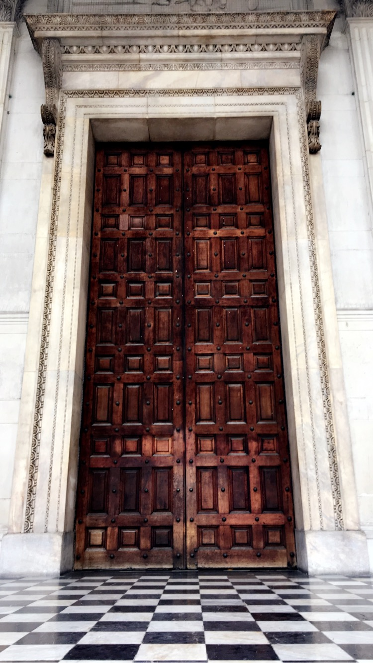 Entrance to St. Paul's Cathedral in London. Princess Diana was married here.