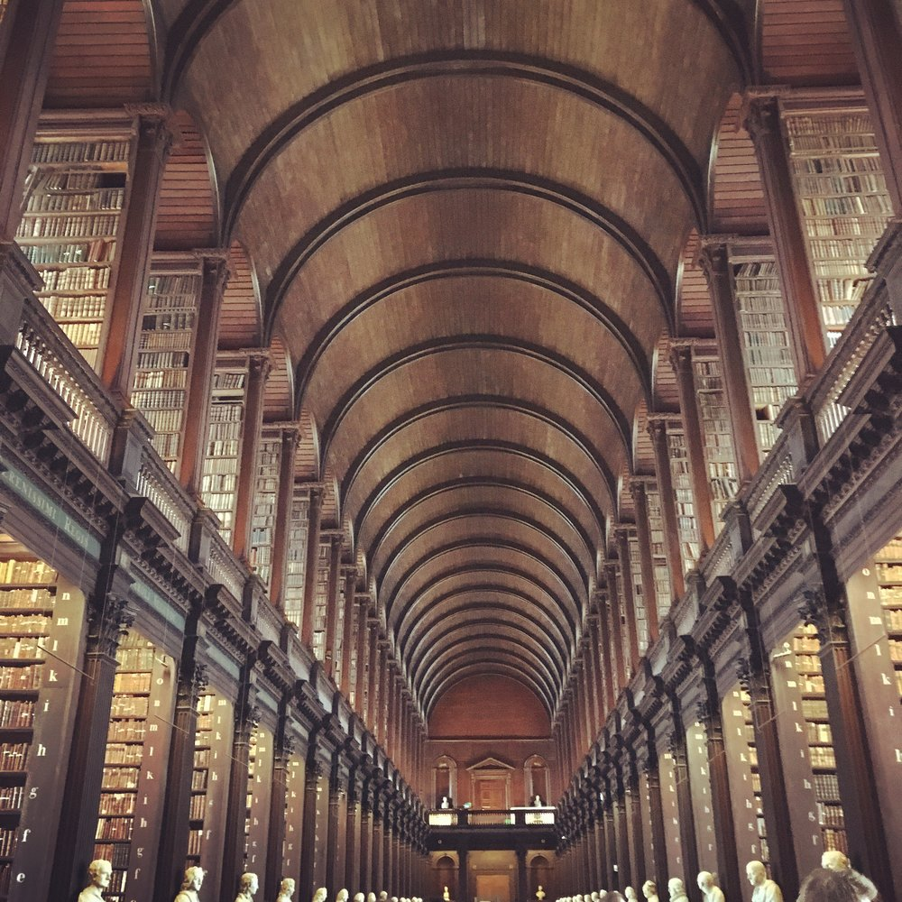 Long Room Library at Trinity University.