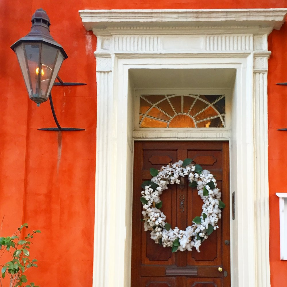 Facade of Real Estate firm in downtown Charleston. Previously, Major Peter Bocquet's House.