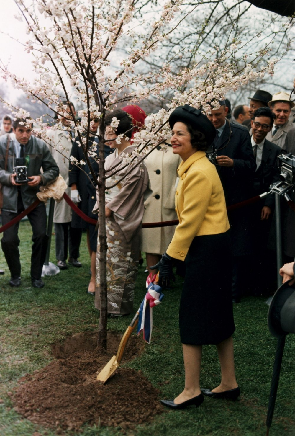 Lady Bird Johnson in 1965.