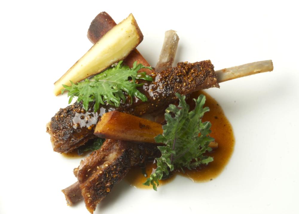 spiced boar spare ribs