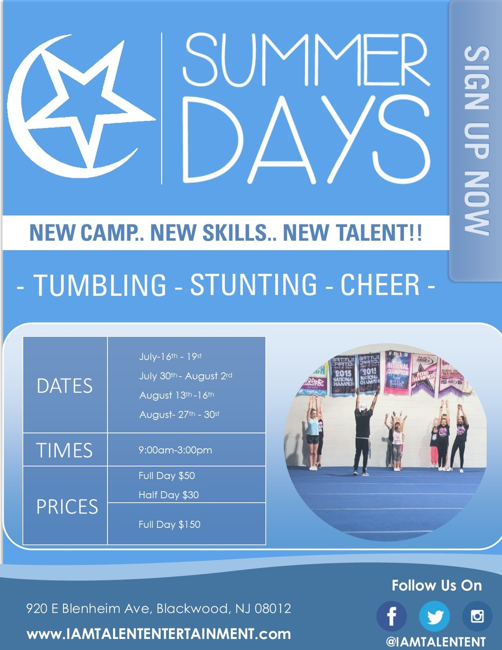 NEED NEW SKILLS?    CHECK OUT OURBRAND NEW SUMMER CAMP! -