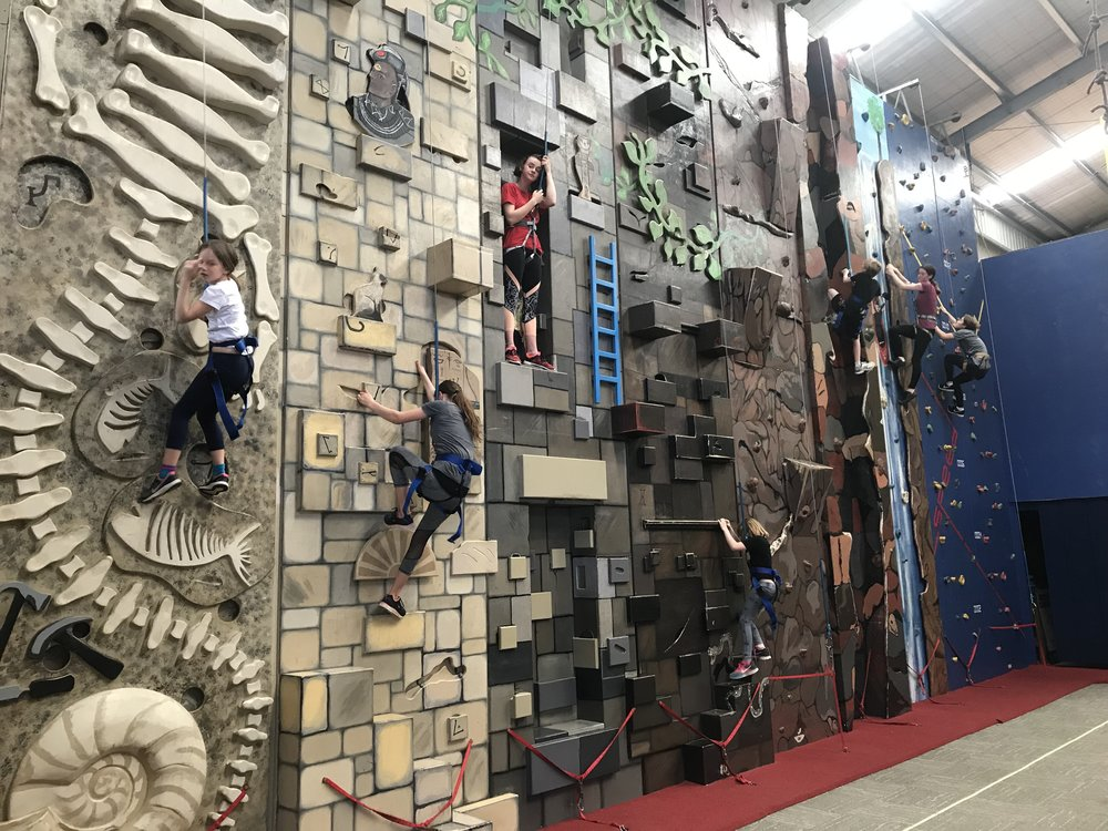 Some of the Hoppers climbing for the climbathon