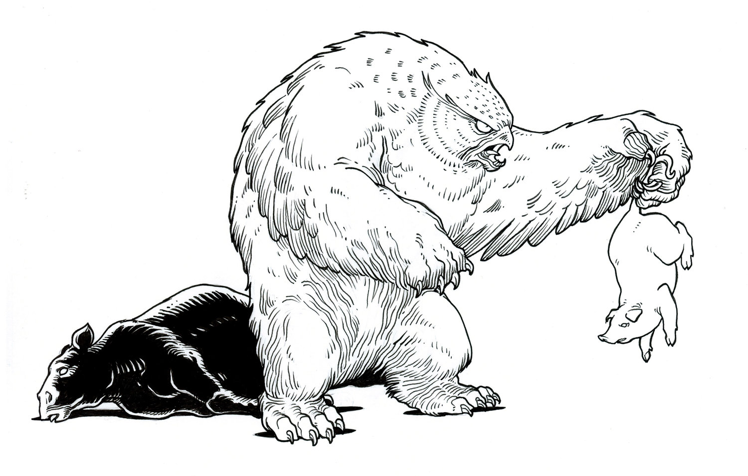 Owlbear Barbecue