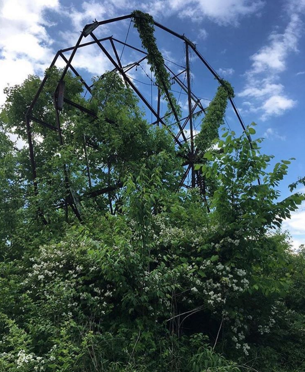 Photo by @hannah.grace.photo at the Chippewa Lake Amusement Park Ruins