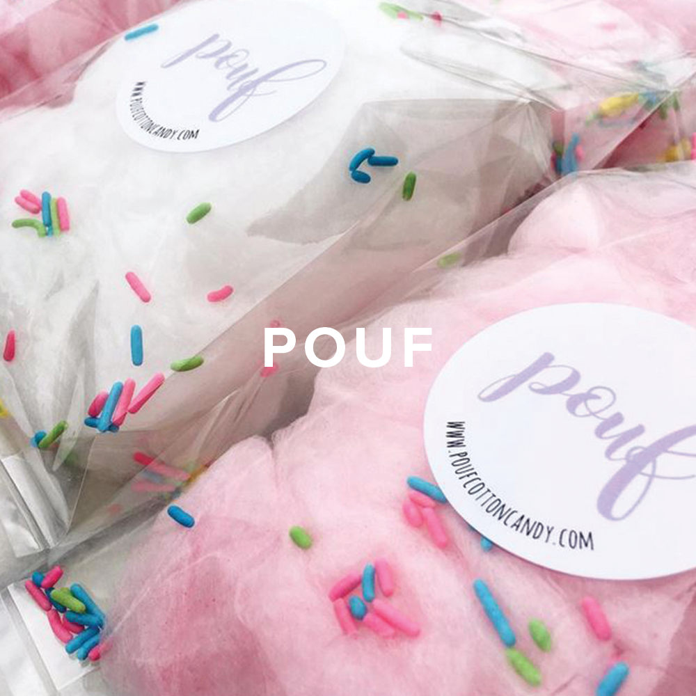 Pouf Cotton Candy