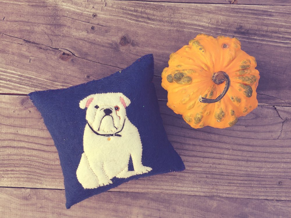 Bulldog Pillow Westlake Craft