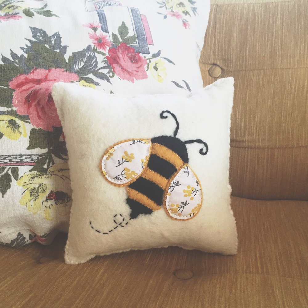 Bumble Bee Pillow Westlake Craft
