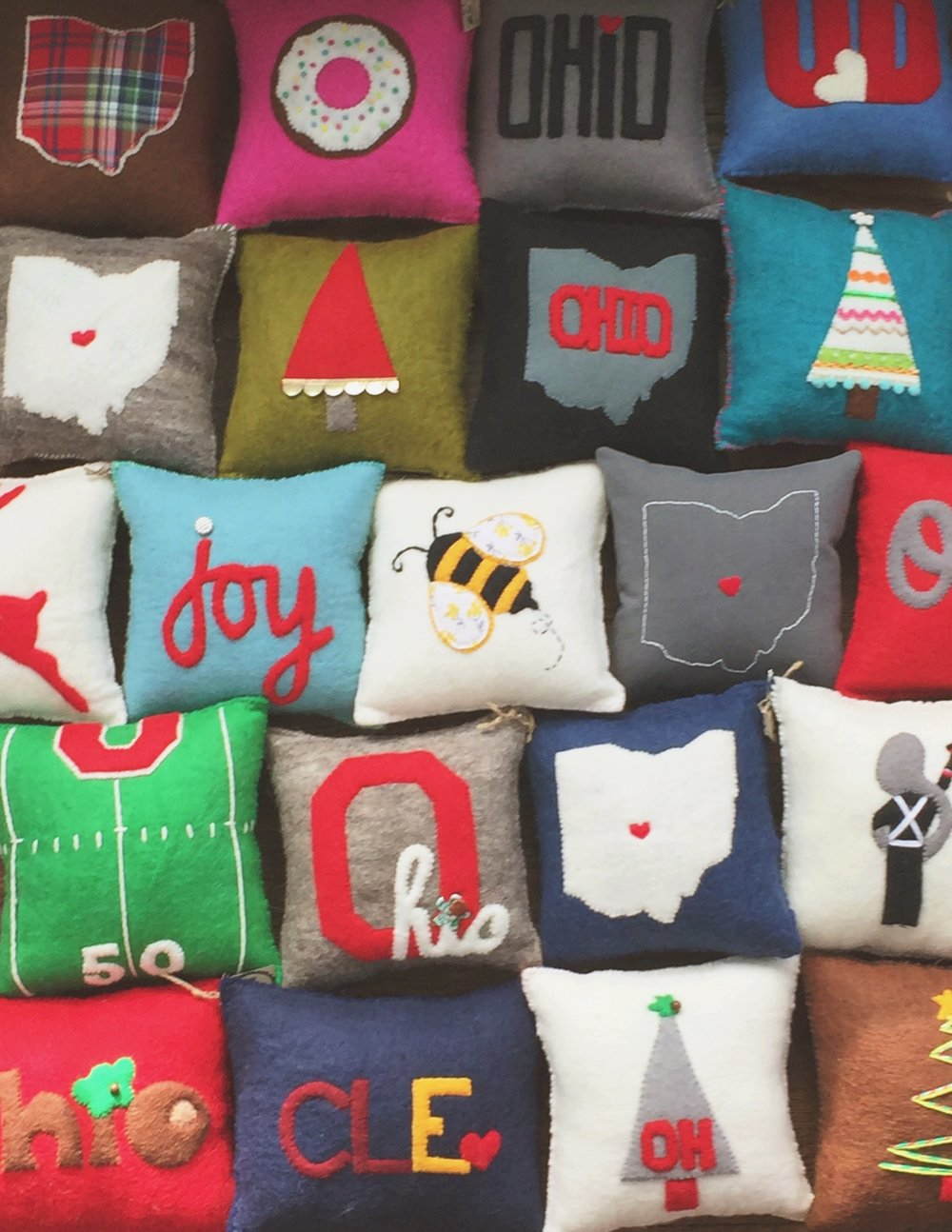 Ohio Christmas Pillows Westlake Craft