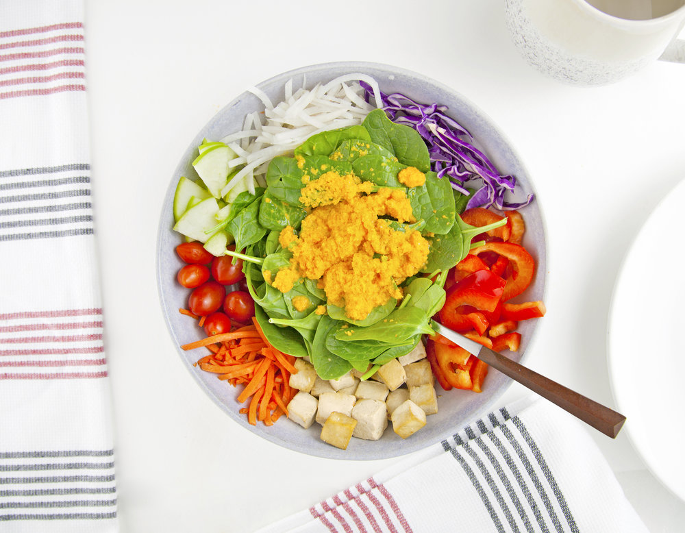 Japanese Carrot Ginger Salad with Tofu