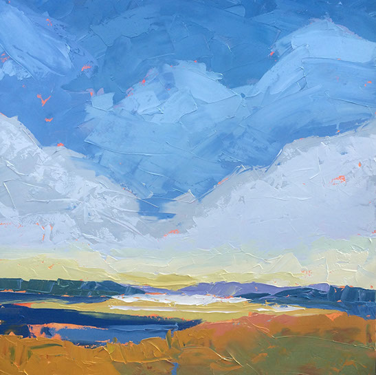 "Paul Norwood , ""Autumn on the Bay"", 60""x60"", oil on canvas"
