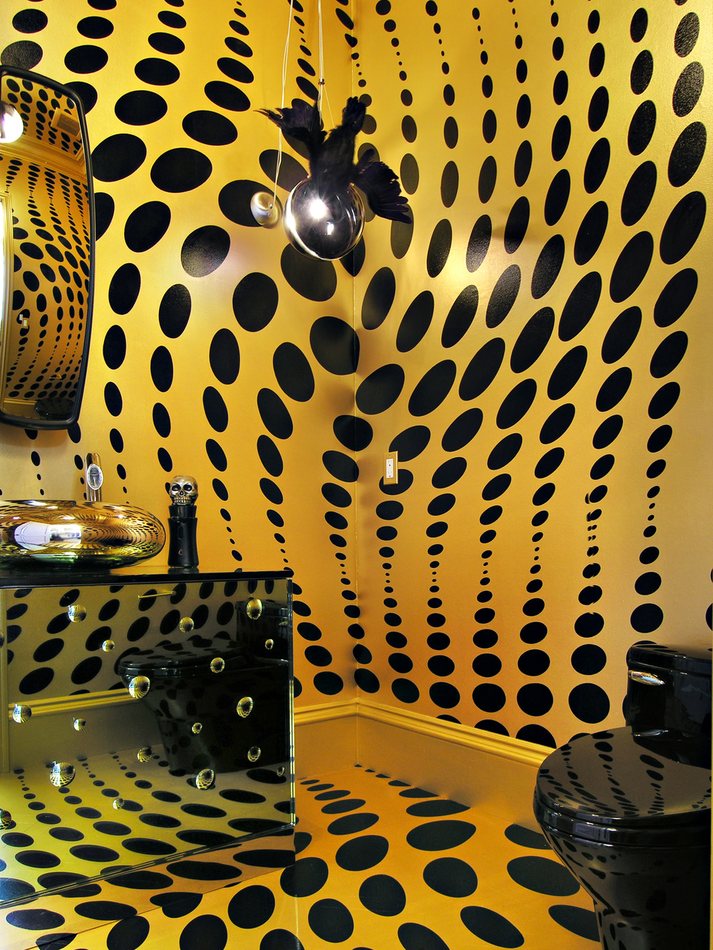 Op Art  Powder Room