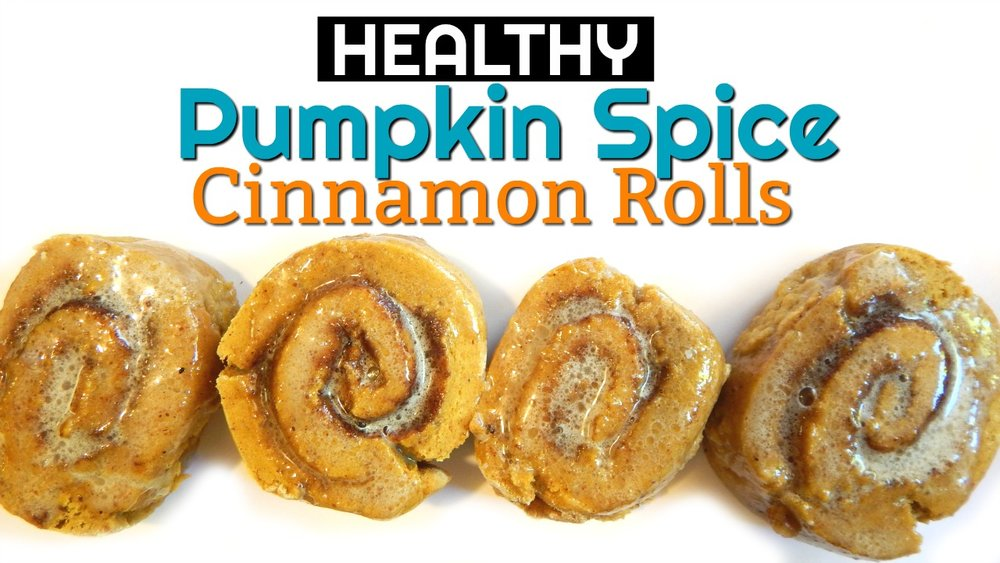 Healthy Pumpkin Spice Cinnamon Rolls