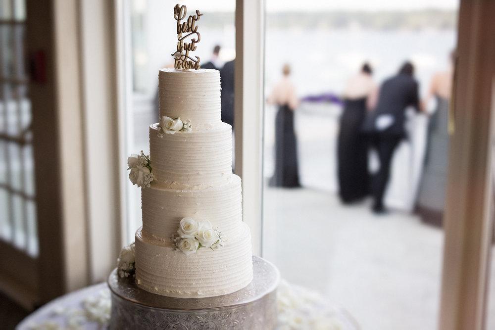 Wedding Cake at Skaneateles country club