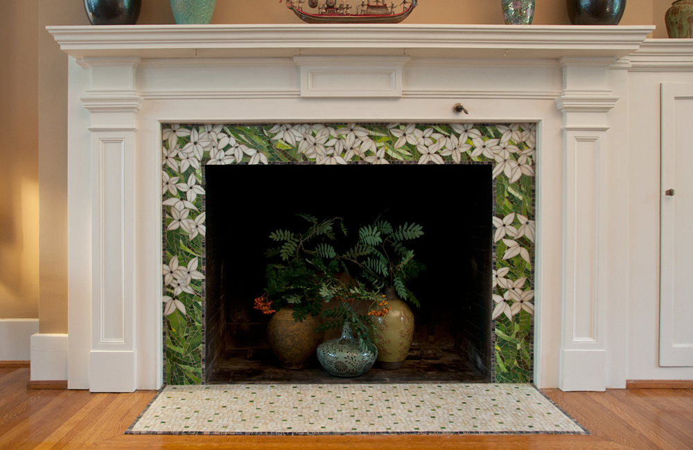 Custom Mosaic Fireplace surround, Buffalo NY
