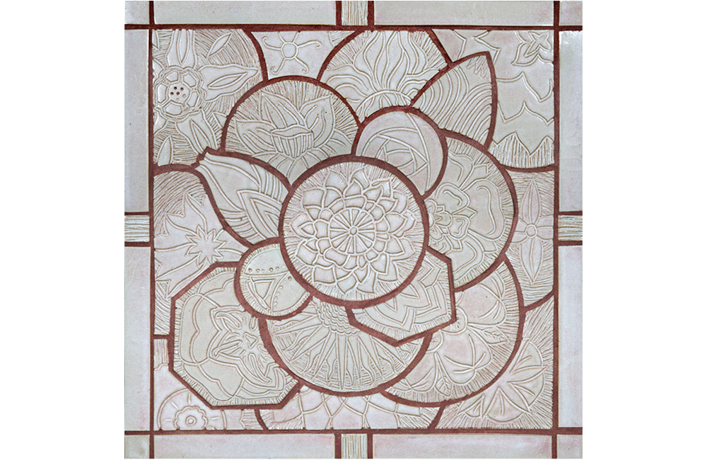 The Golden Flower: Carved Tile Mandala