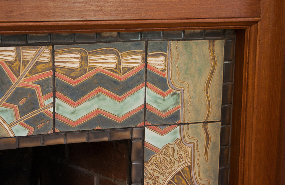 Japanese Art Deco Fireplace Surround