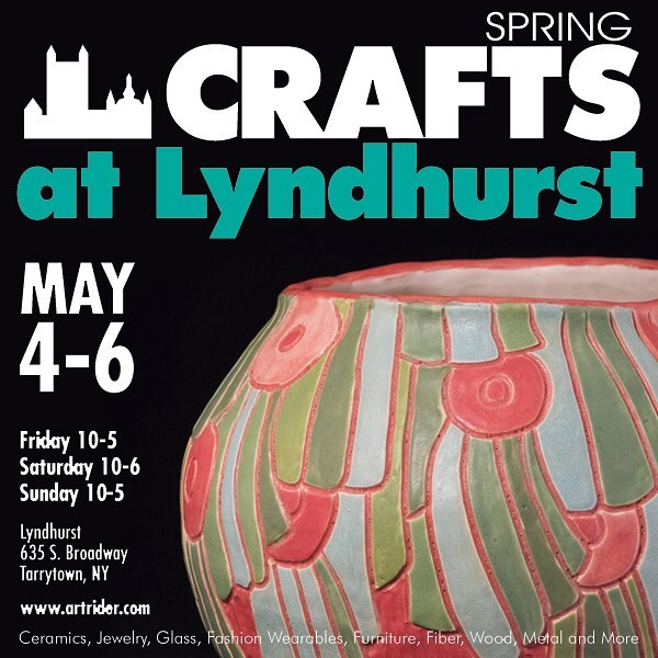 Two weeks from today—join me at Spring Crafts at Lundhurst in Tarrytown under the big tent Friday May 4 to Sunday May 6! I'll be selling vases, tiles, trays, and some new extra large vessels. Hope to see lots of you there! #westchester #hudsonvalley #tarrytown #westchestercounty #lohud #hudsonvalleyny #upstate #upstateny #shophandmade #buyhandmade #madebyhand #handcrafted #supportart @lyndhurst_mansion @lohud @westchestermagazine @artswestchester @news12wc @experiencewestchester @hudsonvalleyweekend @artridercrafts