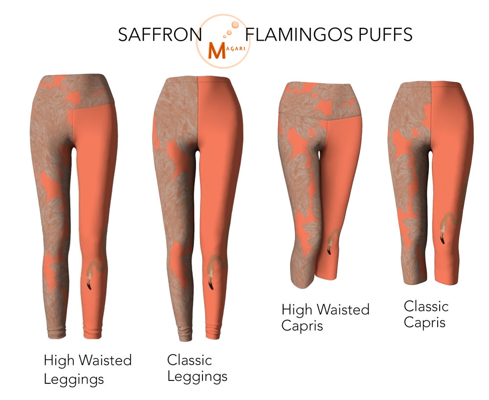 SAFFRON FLAMINGO PUFFS LEGGINGS.jpg