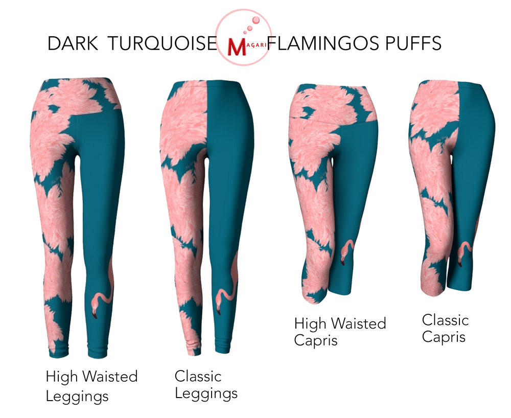 DRAK TURQUOISE FLAMINGO PUFFS LEGGINGS.jpg