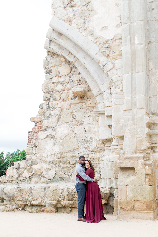 San Juan Capistrano mission wedding photographer, engagements photos, Heather Anderson Photography