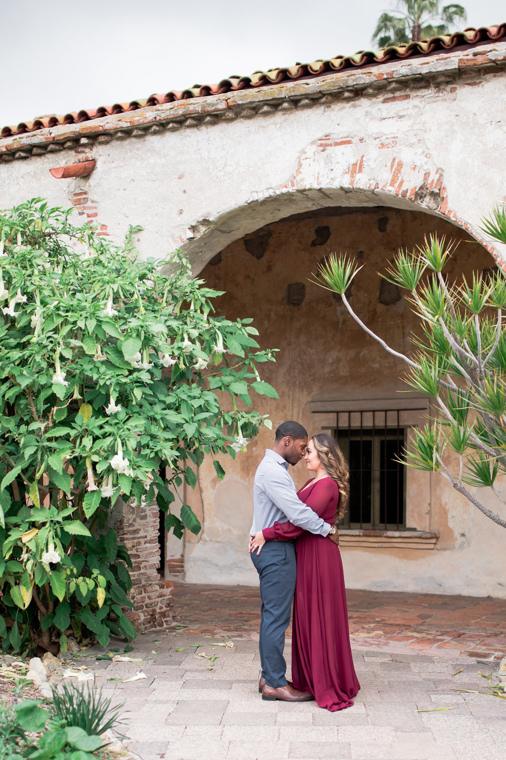 engagement photographer, san juan capistrano mission, heather anderson photography, winery weddings