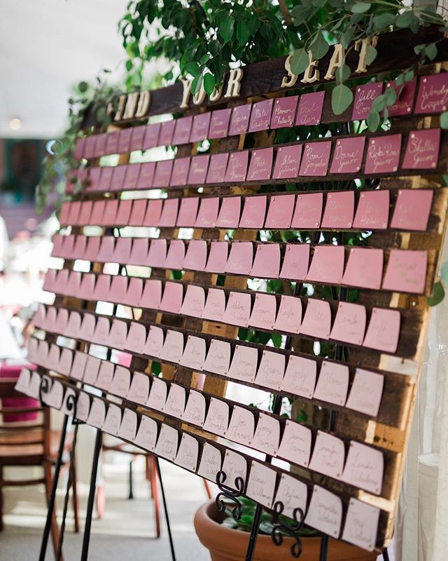 Love these escort cards! Easy, inexpensive and pretty!! #weddingwednesday #weddinginspiration #diywedding