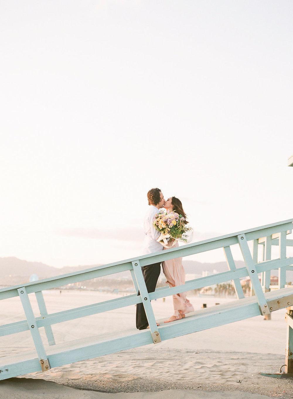 film wedding photography. santa monica wedding photography.