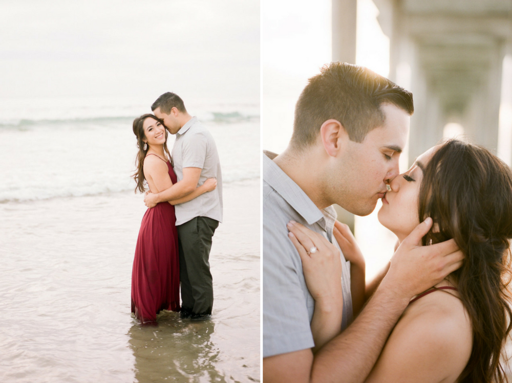 Beach engagement session by Heather Anderson Photography (www.heatherandersonphoto.com).