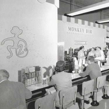 Monkey Bar in Harvey's Department Store