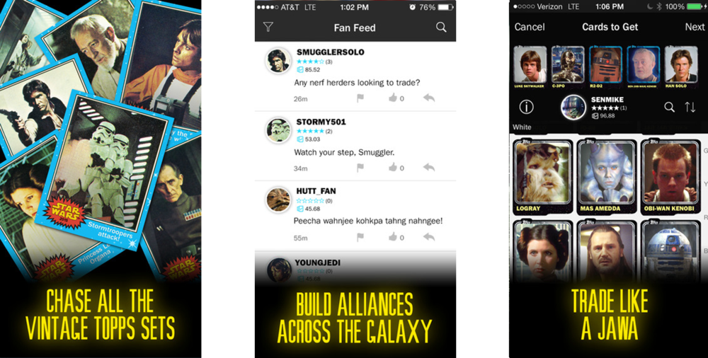 Star Wars mobile app for iPhone and Android