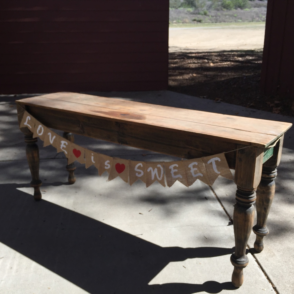 Wood Sofa Table - (1)