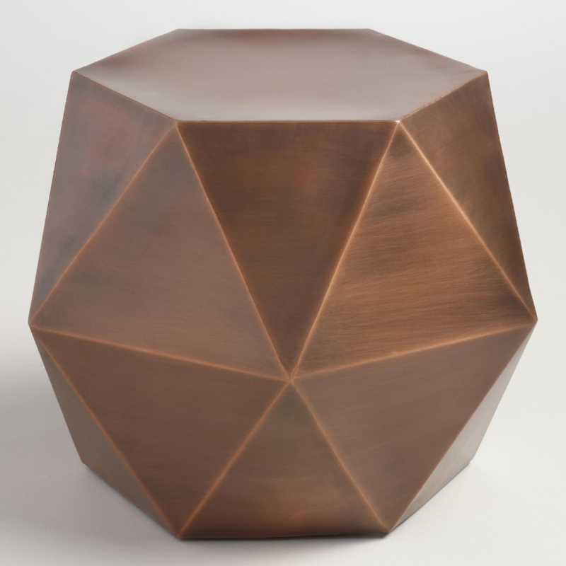 Copper Drum Side Table - (2)